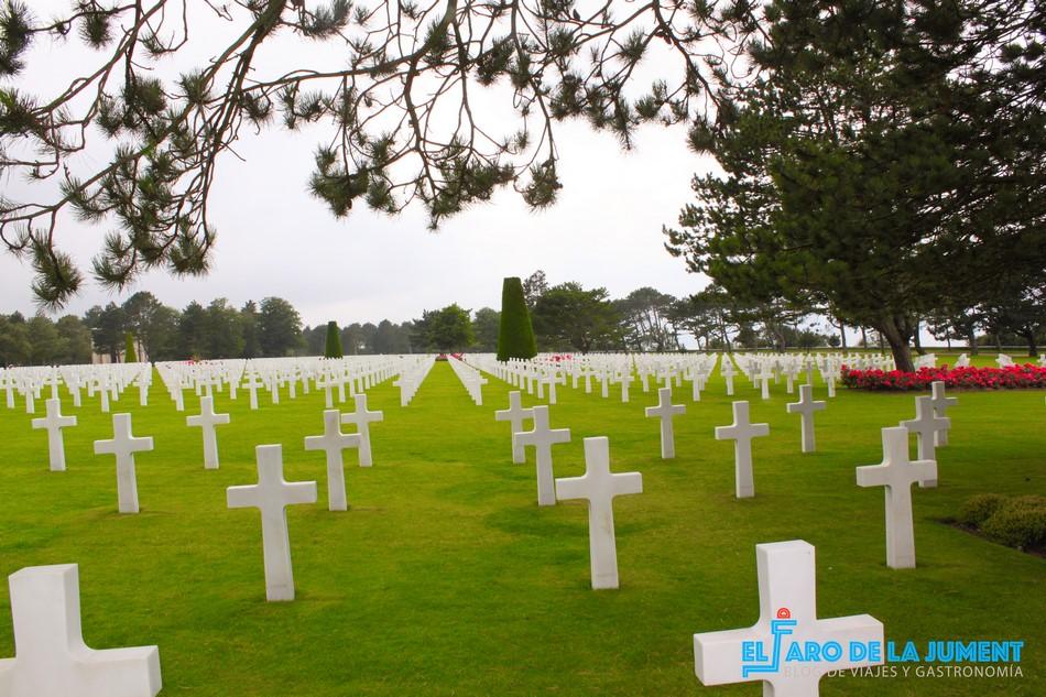 Cementerio Estadounidense de Colleville-Sur-Mer, en Normandía. Seis cementerios que debes visitar antes de morir